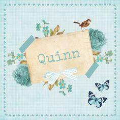 Vintage Geboortekaartje Quinn - Geboortekaartjes - Kaartje2go