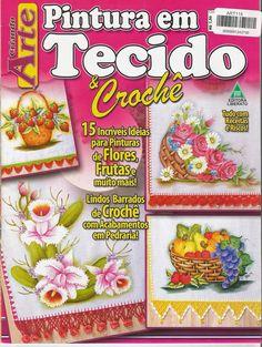 Mania-de-Tricotar: Lindos barradinhos em crochê com pintura em tecido...  http://mania-de-tricotar.blogspot.com.br/