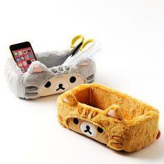 Rilakkuma and co. have temporarily transformed into cats! They'll make your workplace tidy! Rilakkuma, Cute Room Decor, Teen Room Decor, Sanrio, Neko, Kawaii Bedroom, Otaku Room, Tokyo Otaku Mode, Lazy Cat