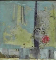 chime, mixed media abstract by Nancy Bossert