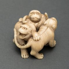 Netsuke- Three Tigers in Ivory