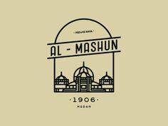 Al mashun #pictogram #design #graphicdesign #mosque #medan in Design