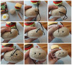 Amigurumi Food: How to embroidery eyes on amigurumis / Como bordar ojos en amigurumis