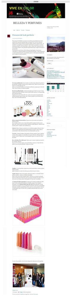 Blog #BellezayPerfumes, Mayo 2015. Gama cosmética #LookExpert