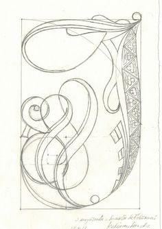 In uenerationem Titivillus Doodle Lettering, Creative Lettering, Graffiti Lettering, Typography Letters, Lettering Design, Hand Lettering, Illuminated Letters, Illuminated Manuscript, J Calligraphy