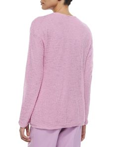 Alpaca Long-Sleeve Sweater, Orchid