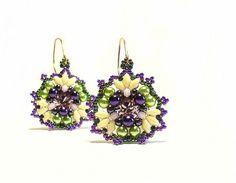 Tutorial Pattern Beaded Beadwork earrings Gloria by CrownofStones, €7.00