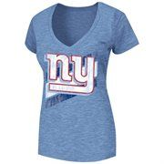 New York Giants Ladies Victory Play V-Neck Slim Fit T-Shirt - Royal Blue