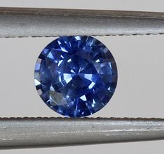 0.51Carat 5.0mm Round Natural Blue Sapphire Gemstone Unheated With Excellent Cut And  Brilliant Luster Unheated Loose Stone