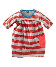 Look at this #zulilyfind! Red & White Stripe Dress - Infant, Toddler & Girls by Tea #zulilyfinds