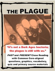 The Plague Past and Present Informational Text with Questions, Primary Sources - All the Interesting Information You're Wondering Here Secondary Resources, Primary Sources, Interesting Information, Student Engagement, Critical Thinking, Nonfiction Books, Social Studies, Middle Ages, Middle School
