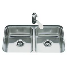 Kohler 3350 80cm wide Icerock Undermount Sink - Brushed Steel