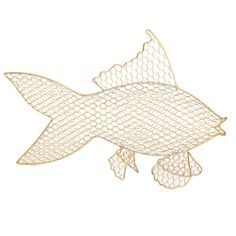 Save in style with Kirkland's beautiful collection of discount home decor! From modern to traditional designs, we have the discount home furnishings for you. Fish Silhouette, Discount Home Decor, Kirkland Store, Fish Shapes, Butterfly Chair, Gold Wire, Coastal Homes, Traditional Design, Statue
