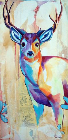 Contemporary and Colorful Wildlife Art by Corina St Martin | Corina St Martin - Colorful Pet Portraits & Wildlife Art