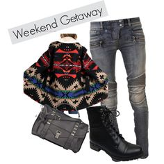 A fashion look from January 2015 featuring vintage jackets, biker jeans and military boots. Browse and shop related looks.