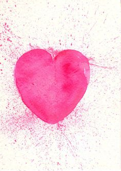 Hey, I found this really awesome Etsy listing at https://www.etsy.com/listing/121100958/pink-heart-art-watercolor-heart-pink-art