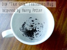 "eight and sixteen | UK Craft & DIY Blog: DIY ""The Grim"" Tealeaves Mug Inspired By Harry Potter"