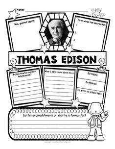 A Bright Idea {a mini-unit about Thomas Edison}