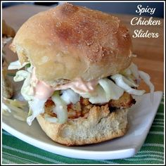Fried Chicken Sliders with Slaw and Spicy Mayo