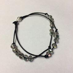 Leather and Swarovski Bracelet Swarovski Bracelet, Bracelets, Leather, Jewelry, Products, Fashion, Moda, Jewlery, Jewerly