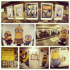 Miniondamm! An ad program to promote the Minion film coming out in July 2015. They plastered minion-themed graphics all over the Berlin, Germany underground train station, Mehringdamm.