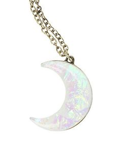LOVEsick Opal Moon Necklace - Hot Topic