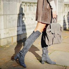 Greys, taupes and muted hues ... Ready for a chic winter with our Shealing Coats, Anouk boots and Brenda mini #LKBennett
