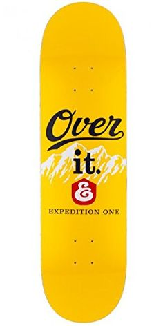 "Expedition Over It Skateboard Deck - 8.5"" - http://shop.dailyskatetube.com/?post_type=product&p=2181 - Something you will not be over is that this deck by means of Expedition, jam packed with Lots of father and most Sturdiness. Lots of father Superior Sturdiness Mellow Concave Measurement: 8.five"" Constructed with 7-ply maple -"