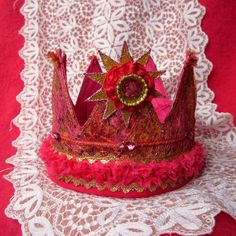 Handmade Crown Hot Pink Birthday Photo Prop by GreenLeavesBoutique, $32.00
