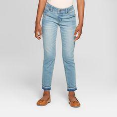 a228a2ef352 Girls  Skinny Denim Jeans - Cat   Jack Light Denim 14 Plus