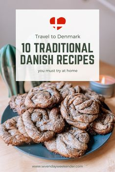 """A perfect way to """"travel"""" when you can't leave your home is through food. It's also one of the best ways to get to know a country's local culture. Get a taste of Scandinavia by trying out these 10 traditional recipes from Denmark. Danish Cake, Danish Dessert, Danish Cuisine, Danish Food, Norwegian Food, Norwegian Recipes, Viking Food, Denmark Food, Danish Christmas"""