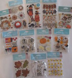 HUGE LOT 25 Packages Scrapbooking Stickers Jolee/'s Boutique Momenta Sticko ++