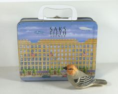 Vintage Tin Lunch Box, Saks Fifth Avenue