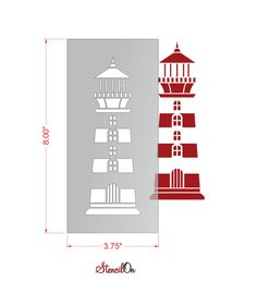 Lighthouse template google search sewing pinterest 8 lighthouse craft and wall stencil reusable mylar stencilon pronofoot35fo Choice Image