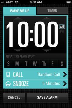 Jimmy Fallon's Wake Up Call app   Design: Sparklefarmer, Inc