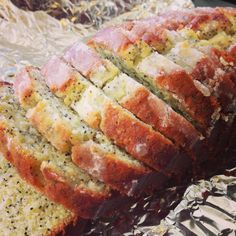 """Lemon Poppyseed Bread Recipe Lemon Poppyseed Bread by Carolann H - Key Ingredient<br> Like most people who bake regularly, we have a few """"go-to"""" recipes for when something sweet is in order. One of them is Lemon Poppyseed Bread, using this recipe from. Just Desserts, Dessert Recipes, Healthier Desserts, Lemon Desserts, Breakfast Recipes, Poppy Seed Bread, The Joy Of Baking, Lemon Bread, Cupcakes"""