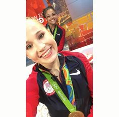 Maddie and Laurie ❤️ #Rio2016 #FinalFive