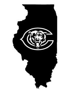 Chicago Bears (Illinois Pride)  --Vinyl Decal-- on Etsy, $5.00