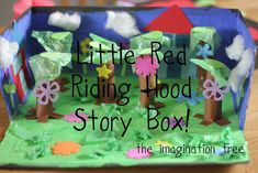 Little Red Riding Hood Story Box (made from show box and crafty bits and pieces - what a great idea!)