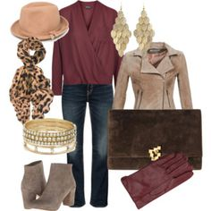 We know it's chilly out there but we can still stay warm & stylish. The key is to layer! Here we have boot cut jeans with a long sleeve blouse (we usually layer a tank underneath for extra warmth), suede booties, leather jacket & a scarf, gloves & hat for extra warmth. Stay warm this weekend! http://www.asburylanestyle.com/blog/cold-weather-date-night #coldweatherdatenight #asburylanestyle
