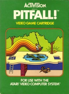 gameandgraphics:    Pitfall! box art, by Activision - Atari 2600, 1982.