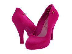 Love this color. Wish it was a wedge though. Vivienne Westwood Anglomania Melissa Skyscraper II Pink Flock