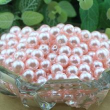 Wholesale Acrylic Pearl Imitation Round Beads For DIY Jewelry Making Light Pink 6mm 8mm 10mm 12mm PB-25(China (Mainland))