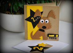 Groseilles & CO: Carte Petit chien pour un anniversaire