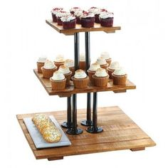 Cal-Mil Madera 3 Tiered Stand