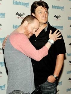 Joss Whedon & Nathan Fillion! Also, I'm pretty sure Whedon wears this shirt about 90% of the time.