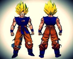 Dragon Ball Z - Life Size SSJ Goku Paper Model - by Paper Juke - == -  Occupying 277 sheets of paper and measuring just over two meters tall, this SSJ Goku, from Dragon Ball Z universe, will require a lot of work and printer ink for those who venture to assemble it. Creation of French designer Metal Heart, Paper Juke site.