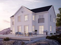 5 Elegant White Beach House Design Ideas For Life Better Elegant Home that Abounds with Beach House Decor Ideas, Abounds Beach Decor .Elegant Home that Abounds with Beach House Decor Ideas, Abounds Beach Decor Elegant Houses Architecture, Architecture Design, Classical Architecture, White Beach Houses, White Houses, Beach Cottage Style, Beach House Decor, Beach House Plans, Beach Cottages