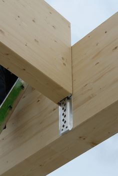 Sherpa connector, cast into concrete to seperate joist from wall and eliminate joist hangers.
