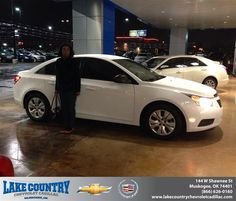 #HappyAnniversary to Saundra Gates on your 2014 #Chevrolet #Cruze from Kimberly Folkner at Lake Country Chevrolet Cadillac!